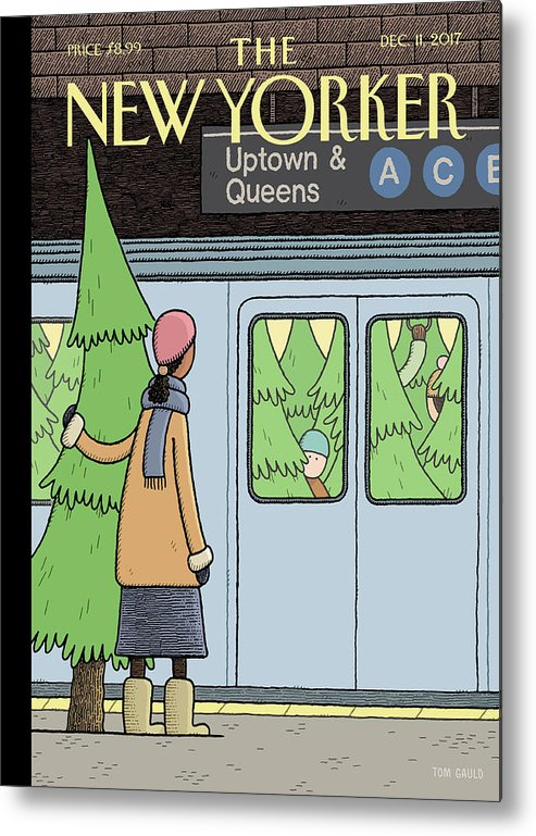 Holiday Track Metal Print featuring the painting Holiday Track by Tom Gauld