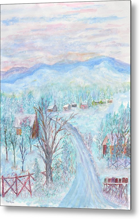 Winter Metal Print featuring the painting Joy of Winter by Ben Kiger