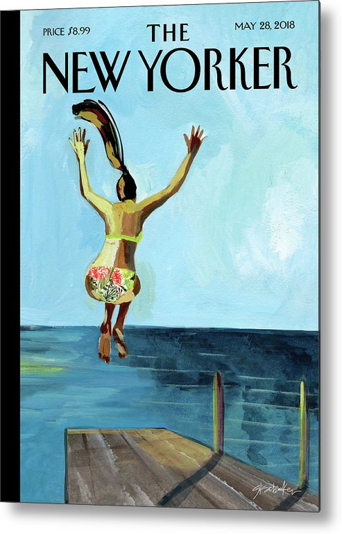 Jump! Metal Print featuring the painting Jump by Gayle Kabaker