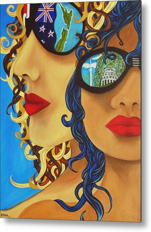 New Zealand Metal Print featuring the painting Kia Ora by Rosie Harper