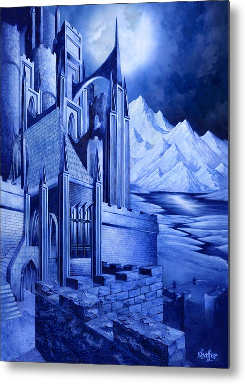 Lord Of The Rings Metal Print featuring the mixed media Minas Tirith by Curtiss Shaffer