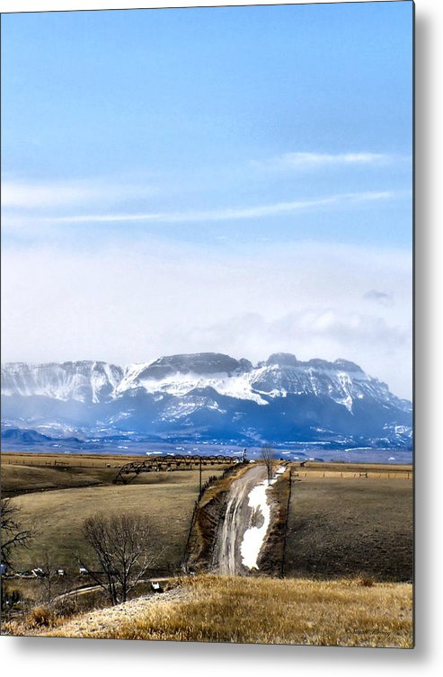 Montana Metal Print featuring the photograph Montana Scenery one by Susan Kinney