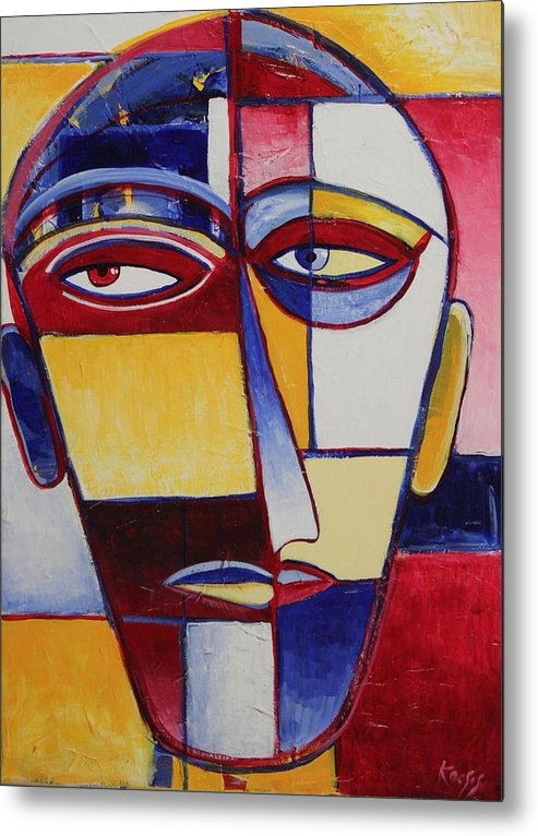 Face Metal Print featuring the painting Mr. Man by Rollin Kocsis