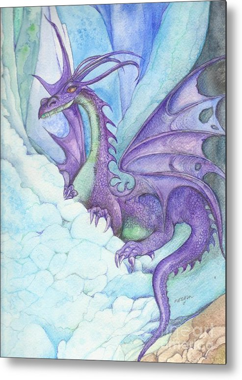 Mystic Metal Print featuring the painting Mystic Ice Palace Dragon by Morgan Fitzsimons