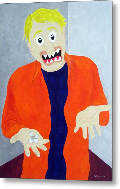 Funism Metal Print featuring the painting New Middle Class by Sal Marino