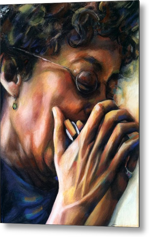 Portrait Metal Print featuring the painting New Self Portrait by Jackie Merritt