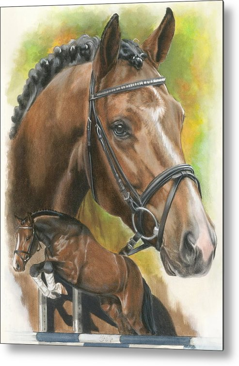 Hunter Jumper Metal Print featuring the mixed media Oldenberg by Barbara Keith