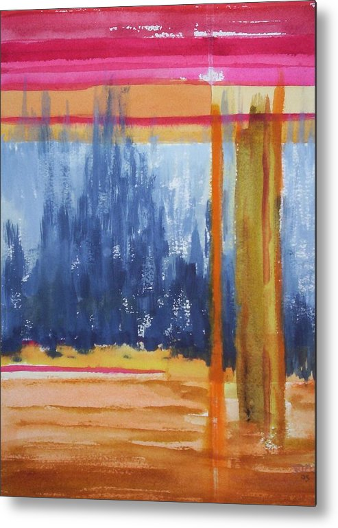 Landscape Metal Print featuring the painting Opening by Suzanne Udell Levinger