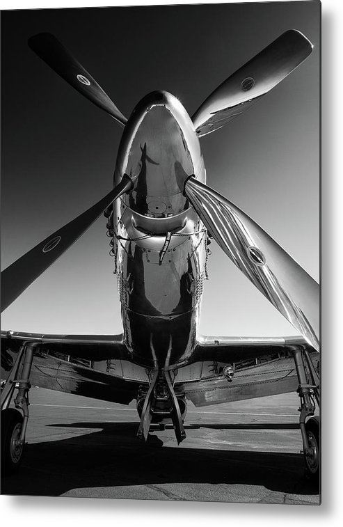 P51 Metal Print featuring the photograph P-51 Mustang by John Hamlon