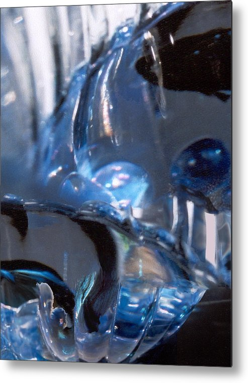 Glass Metal Print featuring the photograph Panel 2 from Swirl by Steve Karol