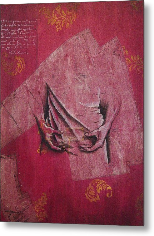 Hands Metal Print featuring the painting Pattern Pieces by Rowena Finn