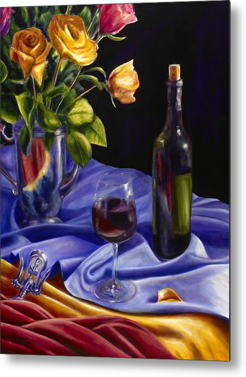 Still Life Metal Print featuring the painting Private Label by Shannon Grissom