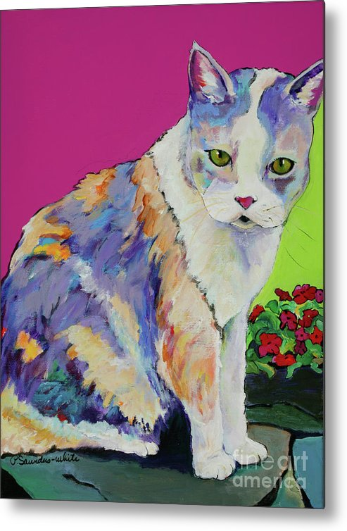 Pat Saunders-white Metal Print featuring the painting Puurl by Pat Saunders-White