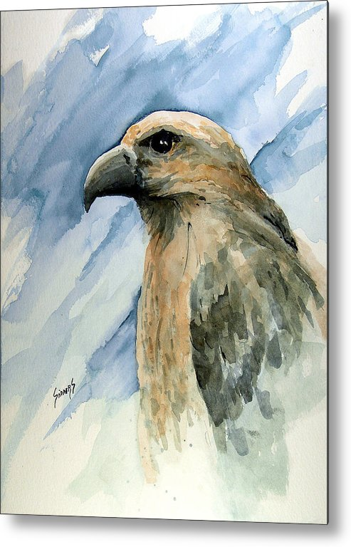 Bird Metal Print featuring the painting Red by Sam Sidders