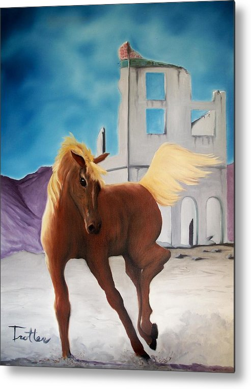 Metal Print featuring the painting Rhyolite Pony by Patrick Trotter