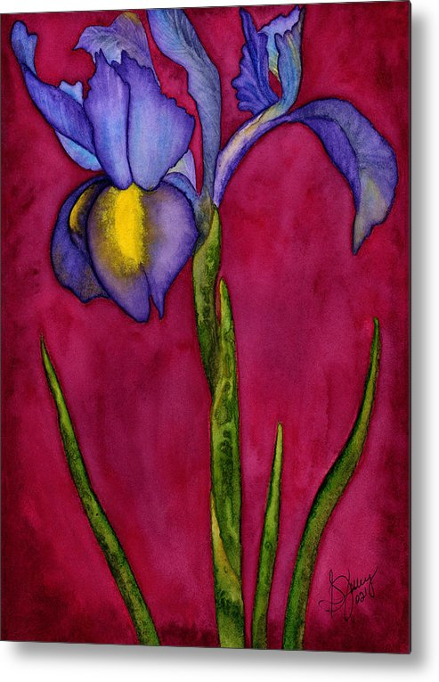 Iris Metal Print featuring the painting Royal Dutch by Stephanie Jolley