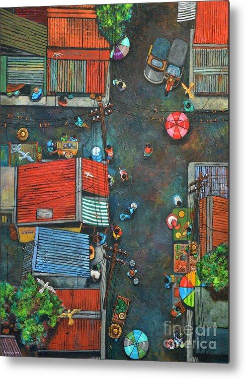 Market Metal Print featuring the painting Sa Lumang Palengke by Paul Hilario