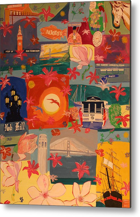Metal Print featuring the painting San Francisco by Biagio Civale