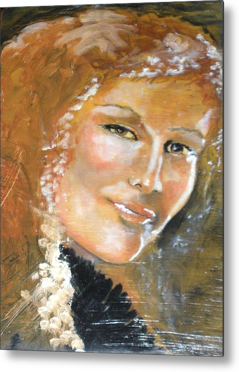 Angels Metal Print featuring the painting Savannah Smiles Again Finished by J Bauer