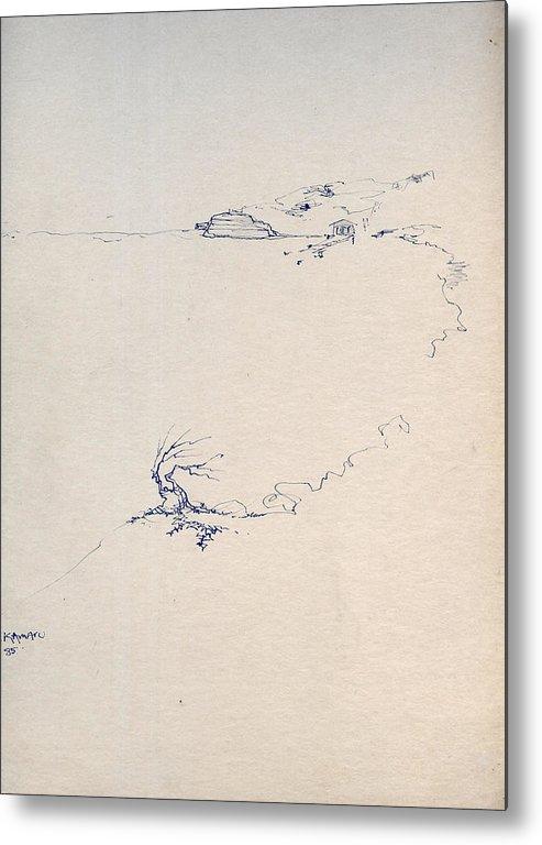 Joan Kamaru Metal Print featuring the drawing Sketch 5 by Joan Kamaru