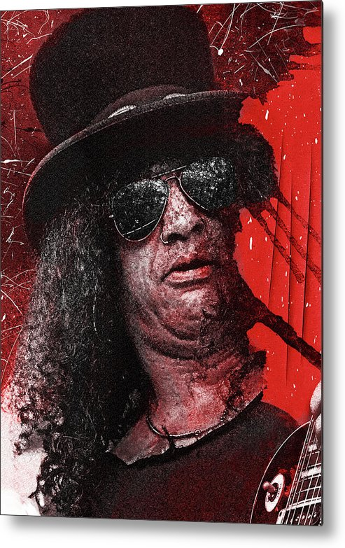 Slash Metal Print featuring the digital art Slash by Mal Bray
