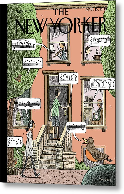 Soundtrack To Spring Metal Print featuring the painting Soundtrack to Spring by Tom Gauld