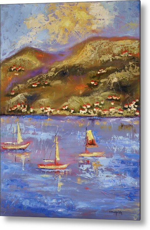 St. John Metal Print featuring the painting St. John USVI by Ginger Concepcion