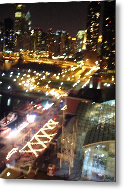 Chicago Metal Print featuring the photograph The Fast Lane by Peter Mowry