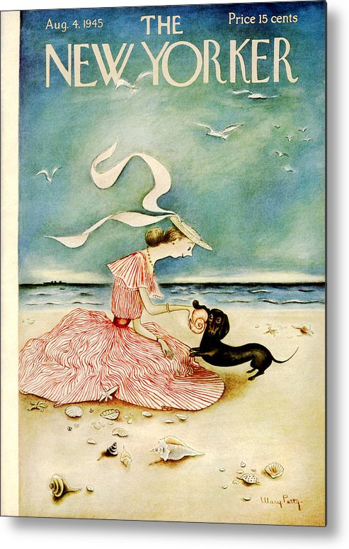 Summer Metal Print featuring the painting New Yorker August 4 1945 by Mary Petty