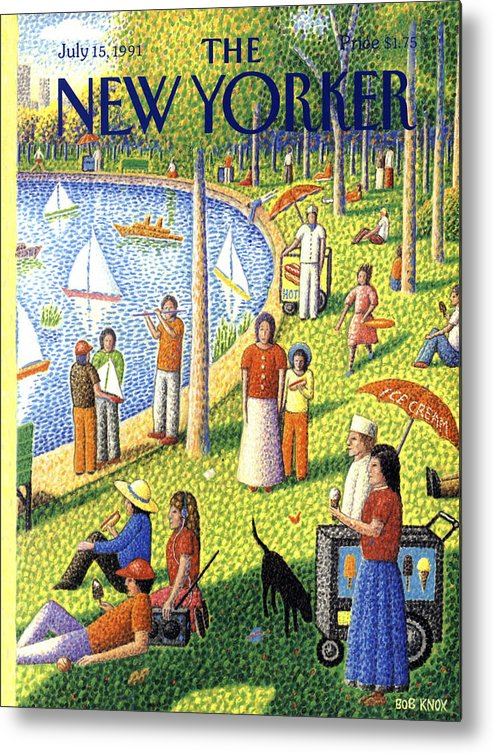 La Grande Jatte Metal Print featuring the painting The New Yorker July 15th, 1991 by Bob Knox