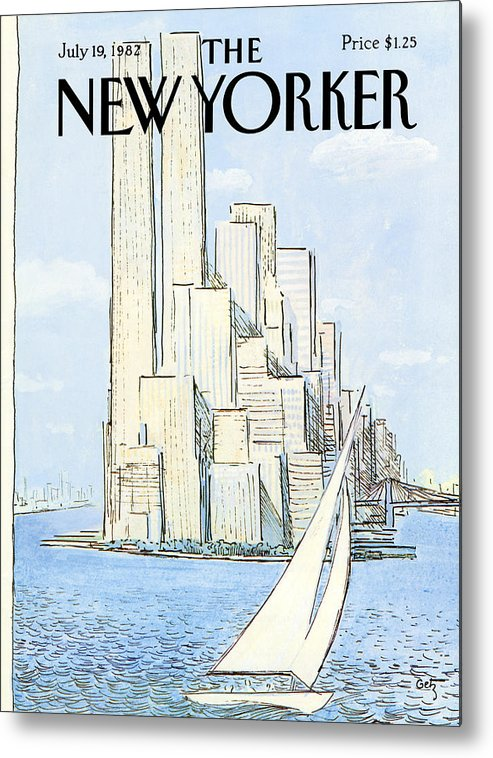 Regional Metal Print featuring the painting New Yorker July 19th, 1982 by Arthur Getz