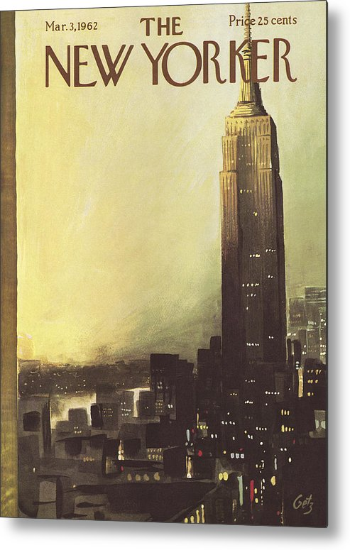 Arthur Metal Print featuring the painting The New Yorker Cover - March 3rd, 1962 by Arthur Getz