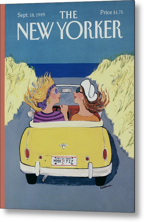 Autos Metal Print featuring the photograph The New Yorker Cover - September 18th, 1989 by Barbara Westman