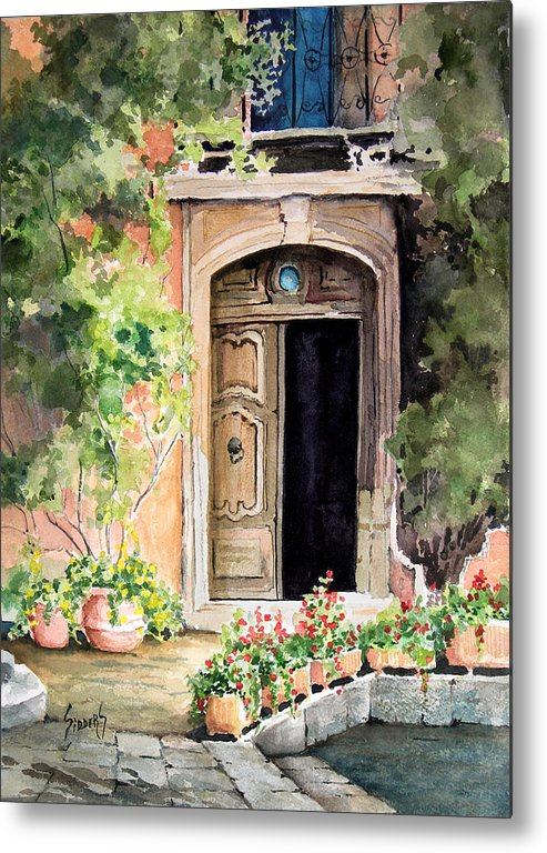Door Metal Print featuring the painting The Open Door by Sam Sidders