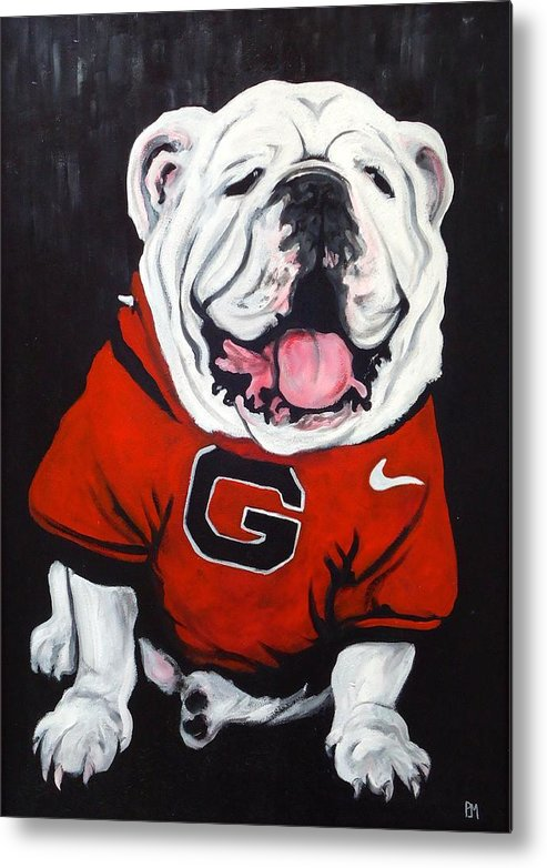 Bulldog Metal Print featuring the painting Top Dawg by Pete Maier
