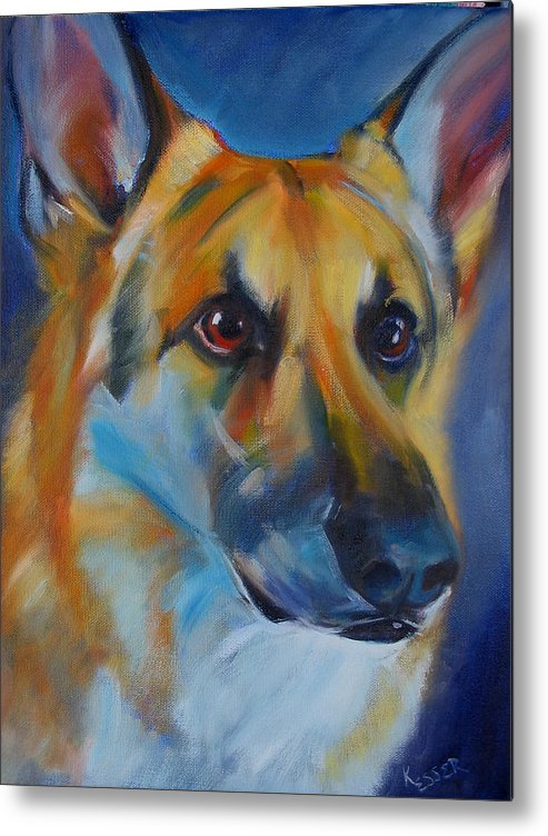 Shepherd Metal Print featuring the painting Trooper by Kaytee Esser