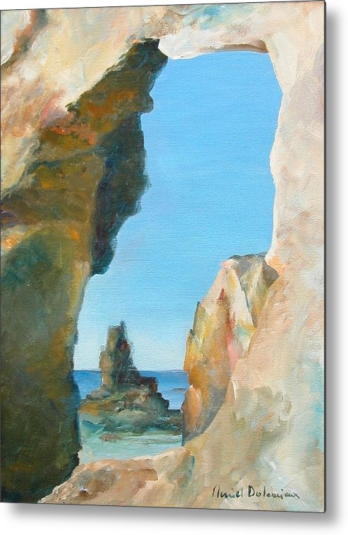 Paysage Metal Print featuring the painting Trouee 1 by Muriel Dolemieux
