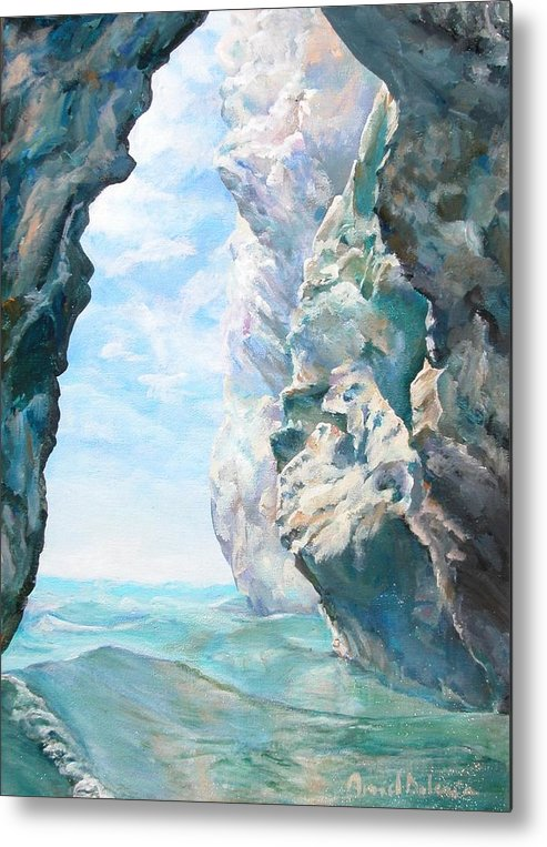 Landscape Paintings Metal Print featuring the painting Trouee 2 by Muriel Dolemieux