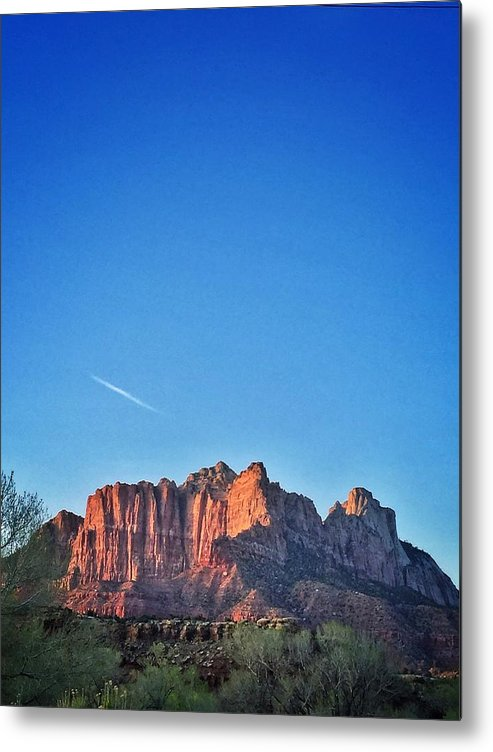 Travel Zion National Park Zion Sunset Metal Print featuring the photograph Zion Sunset by Scott Waters