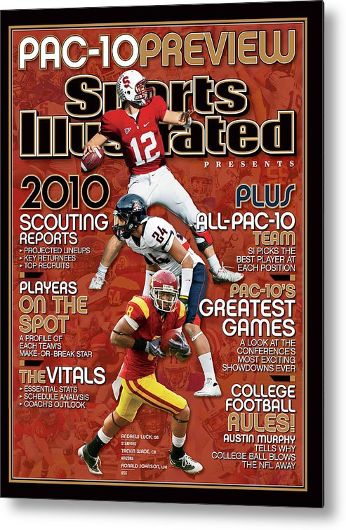 Ronald Johnson Metal Print featuring the photograph 2010 Pac-10 Football Preview Issue Sports Illustrated Cover by Sports Illustrated