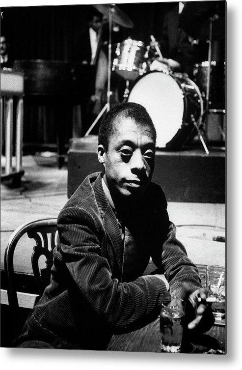 Timeincown Metal Print featuring the photograph James Baldwin by Carl Mydans