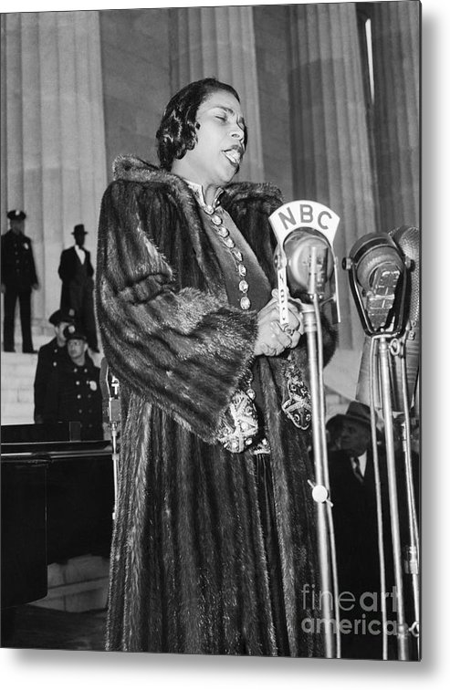 Singer Metal Print featuring the photograph Marian Anderson by Bettmann