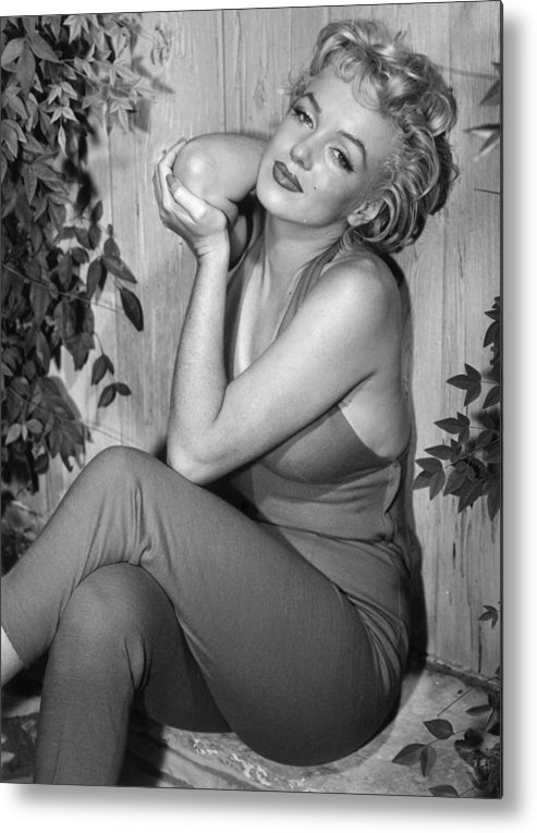 Human Arm Metal Print featuring the photograph Marilyn Monroe by Baron