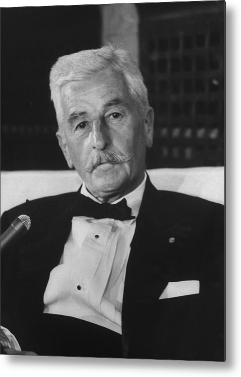 Timeincown Metal Print featuring the photograph William Faulkner by Carl Mydans