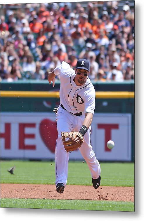American League Baseball Metal Print featuring the photograph Texas Rangers V Detroit Tigers by Leon Halip