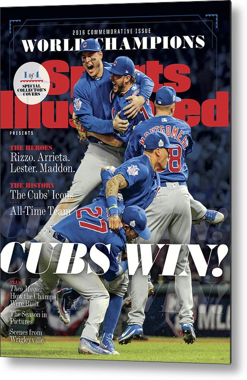 American League Baseball Metal Print featuring the photograph Chicago Cubs, 2016 World Series Champions Sports Illustrated Cover by Sports Illustrated