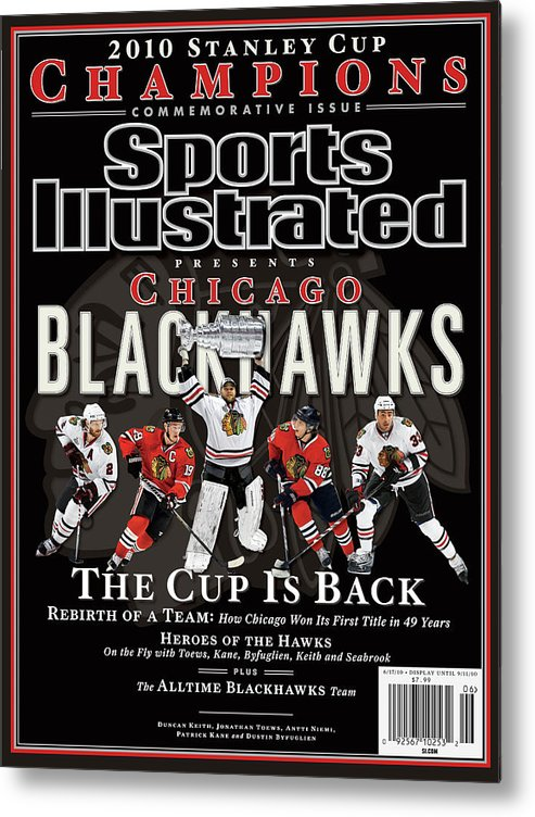 Playoffs Metal Print featuring the photograph 2010 Stanley Cup Finals Sports Illustrated Cover by Sports Illustrated