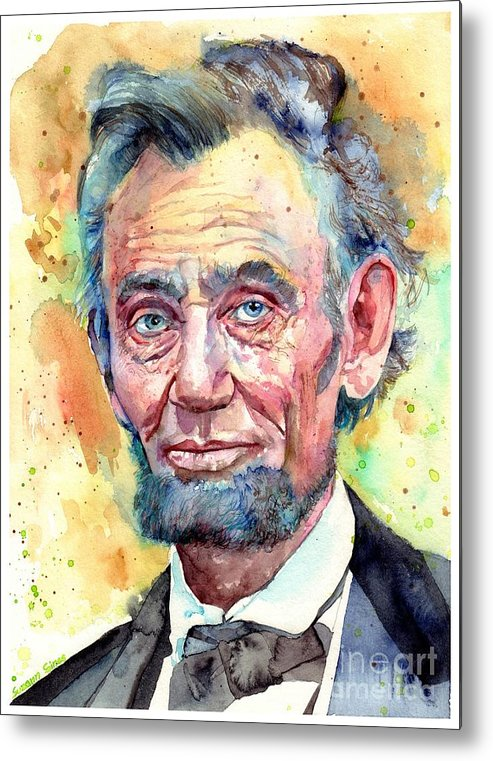 Abraham Lincoln Metal Print featuring the painting Abraham Lincoln Portrait by Suzann Sines