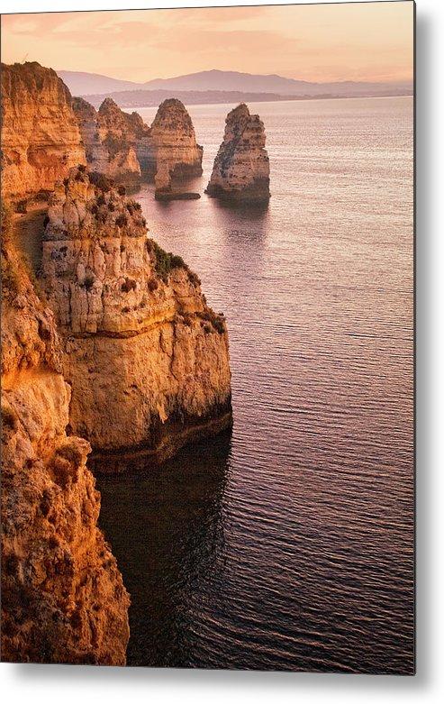 Algarve Metal Print featuring the photograph Algarve Coastline, Lagos, Portugal by Zu Sanchez Photography