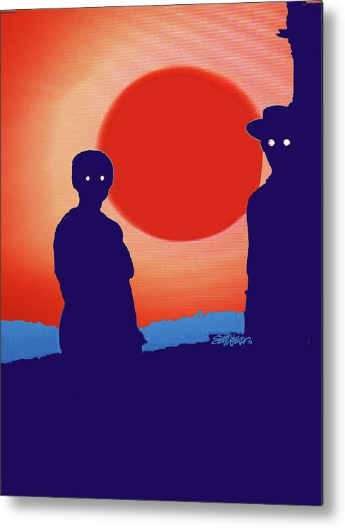 American Gothic-2018 Metal Print featuring the mixed media American Gothic-2018 by Seth Weaver